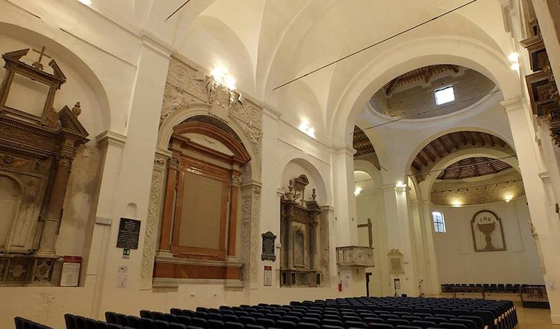 Restauro Auditorium San Francesco con il sostegno di Fondazione Carima